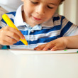 Young Boy Busy Doing His Art Activity — Stock Photo #12228621