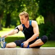 Man Warming Up Before Exercise — Stock Photo