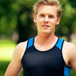 Attractive Young Athlete at the Park — Stock Photo