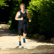 Royalty-Free Stock Photo: Athlete Running Fast