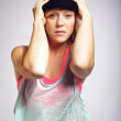 Portrait of hip hop dancer — Stock Photo