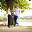 Couple in Love Having Fun Outdoors — Stock Photo #16513997