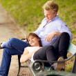 Happy Couple Bonding in a Park - Foto de Stock