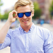 Cool Guy with His Shades On - Stock Photo