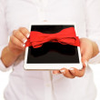 Digital Tablet Gift — Stock Photo