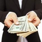 Business Executive Giving Bribe Money — Stock Photo