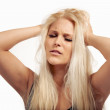 Frowning Woman Sick of Too Much Pressure — Stock Photo #19525829