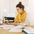 Young University Student Busy with Studying — Stock Photo