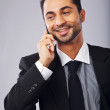 Handsome Young Professional Answering a Phone Call — Stock Photo