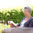 Senior woman reading a book — Stock Photo #31495709
