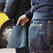 Pickpocketing on the street during daytime — Stock Photo
