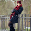 Happy Woman in Stylish Winter Clothing — Stock Photo