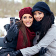 Two Friends Taking Picture of Themselves — Stock Photo