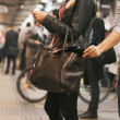 Thief stealing wallet at the subway station — Stock Photo #34403807
