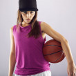 Female basketball player looking confident — Stock Photo