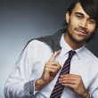 Relaxed young male business executive — Stock Photo
