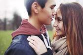 Cute teenage love — Stock Photo