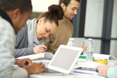 Students preparing their assignments — Stock Photo