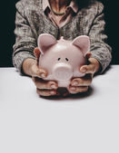Saving for her retirement — Stock Photo