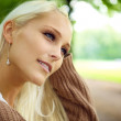 Beautiful Blonde In Wistful Contemplation — Stock Photo #7249729