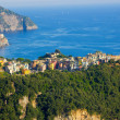 Corniglia from a distance — Foto de Stock