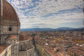View over Firenze with famous church — Stock Photo