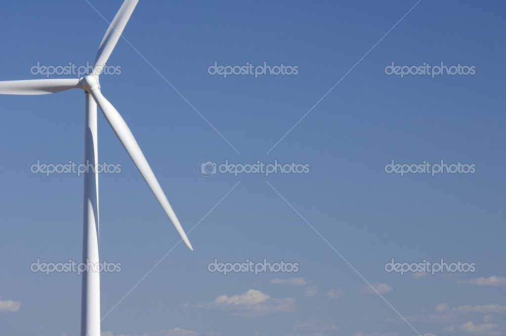 Detail of the top of a modern windmill — Stock Photo #12741716