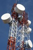 Telecommunications towers — Stock Photo