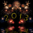 Colorful 2013 new year fireworks — Stock Photo