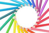 Frame van kleur potloden geïsoleerd — Stockfoto