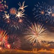 Fireworks with majestic clouds — Stock Photo #13745161