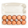 Stock Photo: Eggs in carton package