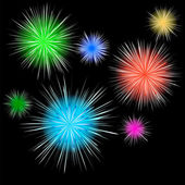 Holiday fireworks — Stock Vector