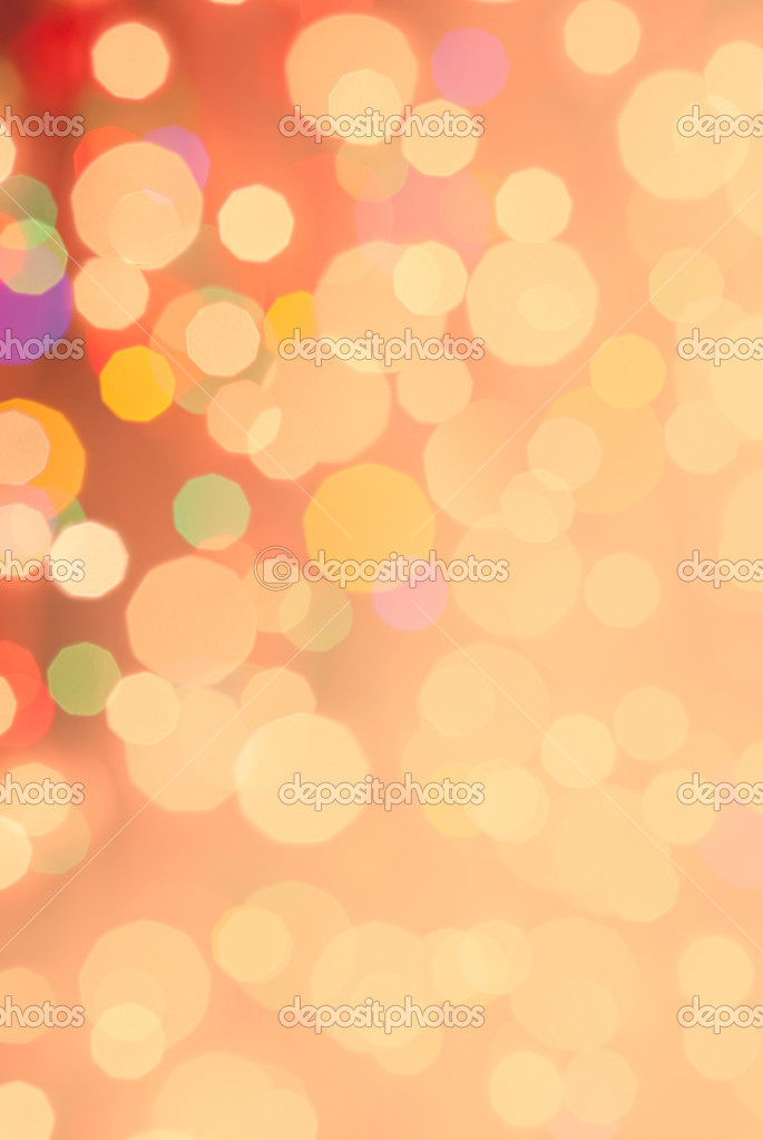 Christmas and New Year festive bokeh background, plase for holiday text — Stock Photo #14939445