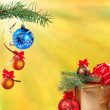 Stock Photo: New Year festive background