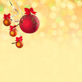 Christmas background with balls — Stok fotoğraf