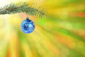 Background with ball on branch — Stock Photo