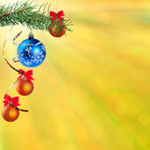 New Year festive bokeh background — Photo