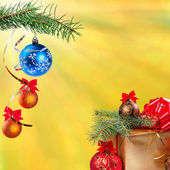 New Year festive background — Stok fotoğraf