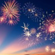 Colorful holiday fireworks — Stockfoto #16227497