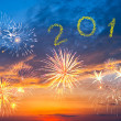 New Year 2013 fireworks - Stock Photo