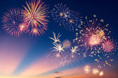 Colorful holiday fireworks — Stockfoto