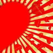 St. Valentine's Day golden background — Stock Photo