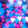 Blue heart bokeh background — Stock Photo