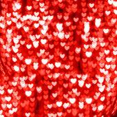 红色的心散景背景 — 图库照片
