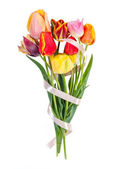 Beautiful bouquet of tulips — Stock Photo