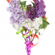 Bouquet of white and purple lilac — Stock Photo