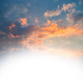 Clouds in the sky with place for your text — Stock Photo