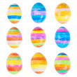 Easter eggs isolated - Stock Photo