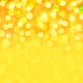 Golden holiday bokeh background — Stock Photo